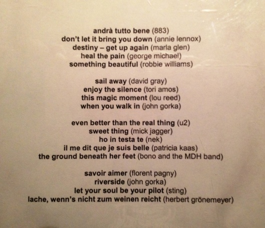 """something beautiful"" Broad hint track list"