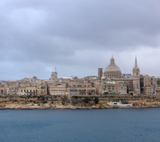 A November day in Valetta, Malta (copyright: http://idonotdespair.com/2014/11/13/if-you-only-have-one-day-to-ride-you-take-what-comes-a-stormy-ride-to-valetta-malta/)