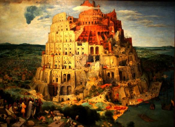 """(Photo: Raul Rognean, 2010 Wien – """"Turmbau zu Babel"""" – Pieter Bruegel dem Älteren, Öl auf Eichenholz, 114 cm × 155 cm – Kunsthistorisches Museum Wien)"""